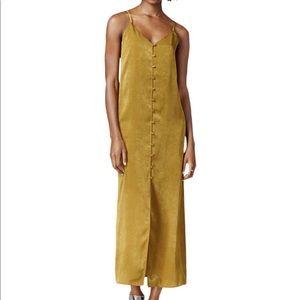 JOA Sleeveless Midi Slip Dress